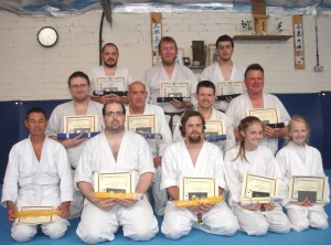 Grading at Summer School 2015 West Midlands Aikido Association held at Walsall Wood Aikido Club